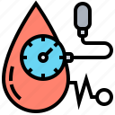 blood, cardio, health, measure, pressure icon