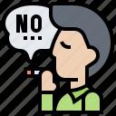 banned, forbidden, smoking, stop, warning icon