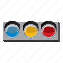 cartoon, light, line, side, sport, traffic, view icon