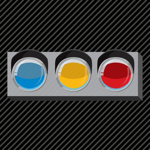 cartoon, light, line, side, sport, traffic, view icon
