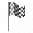 cartoon, chequered, flag, side, sport, view, winner icon