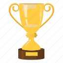 best, cartoon, cup, reward, side, trophy, view icon