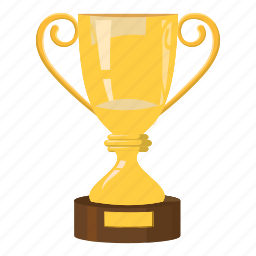 best, cartoon, cup, reward, side, trophy, view icon