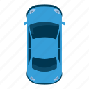 auto, car, cartoon, sport, top, view, wheel