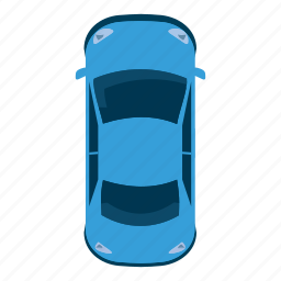 auto, car, cartoon, sport, top, view, wheel icon