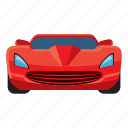 auto, car, cartoon, front, sport, view, wheel icon