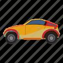 auto, car, cartoon, side, sport, transport, view icon