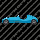auto, blue, car, cartoon, side, sport, view icon
