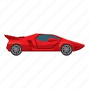 auto, car, cartoon, side, sport, view, wheel icon
