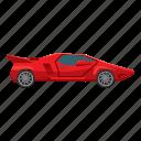 auto, car, cartoon, side, sport, view, wheel icon
