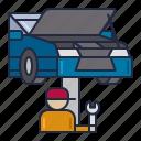 car, mechanic, service