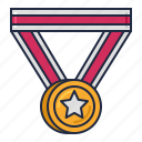 award, medal, racing icon