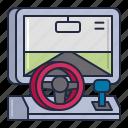 racing, simulator, vehicle icon