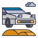 competition, racing, rally icon