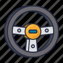 racing, steering, wheel icon