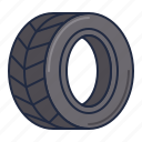 tire, wet, wheel icon
