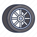 racing, tire, wheel icon