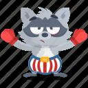 emoji, emoticon, boxer, smiley, sticker, racoon icon