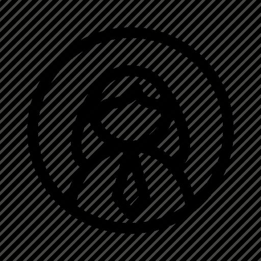 girl, social, user, worker icon
