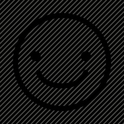 emoji, happy, smile, social icon