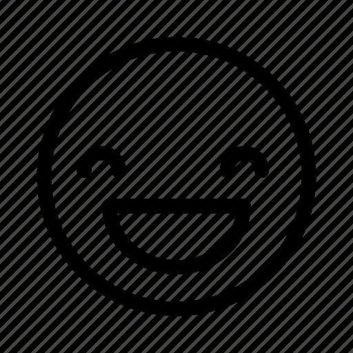 happy, smile, social icon