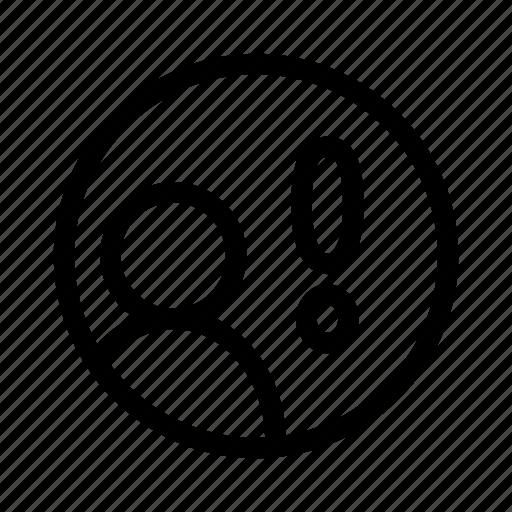 notification, social, user icon