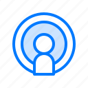 microphone, on air, people, podcast, voice recording icon