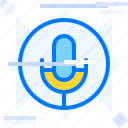 microphone, on air, podcast, radio, voice recording icon