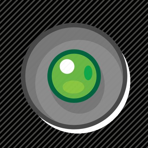 green, radio, radio button icon