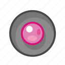 pink, radio, radio button icon