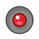 radio, radio button, red icon