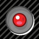 radio, radio button, red