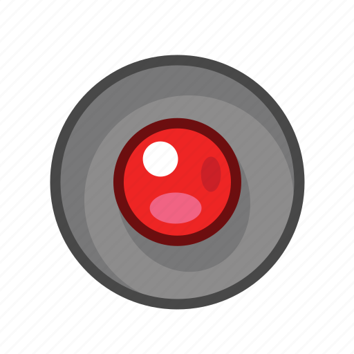 radio, radio button, red icon