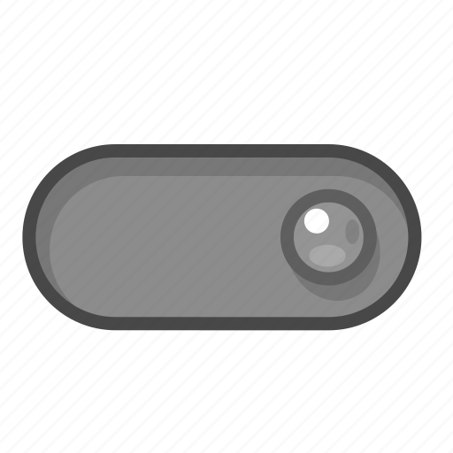 gray, off, right, switch icon