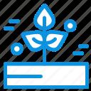 agriculture, leaf, plant, rain, rainy icon