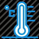 cloud, light, rainy, sun, temperature icon