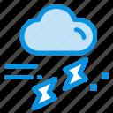 cloud, rain, rainfall, rainy, thunder icon
