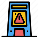 floor, signal, signaling, warning, wet icon