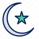 crescent, moon, ramadan, star