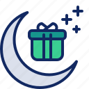 celebrate, celebration, festival, gift, moon, present, ramadan icon
