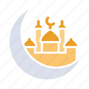 crescent, islam, moon, mosque, muslim, prayer, ramadan icon