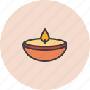 bright, diwali, glow, lamp, light, ramadan icon