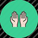 hands, islam, muslim, pray, prayer, religion, salat icon