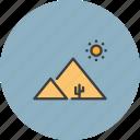 arabia, desert, egypt, pyramid icon