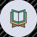 book, holy, islam, muslim, prayer, quran, religion icon