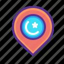 location, map, marker, mosque, navigation, pin, ramadan icon