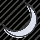 crescent, islam, moon, sky, muslim, ramadan, night