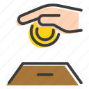 banking, charity, coin, donation, giving, save, zakat icon