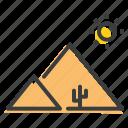 arabia, desert, egypt, pyramid, landscape, scenery