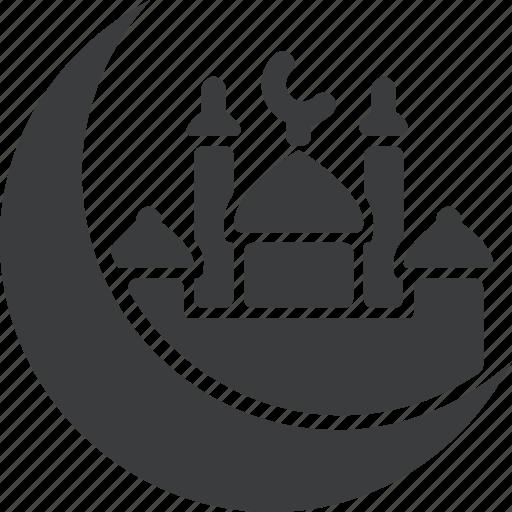 crescent, eid, islam, muslim, ramadan icon